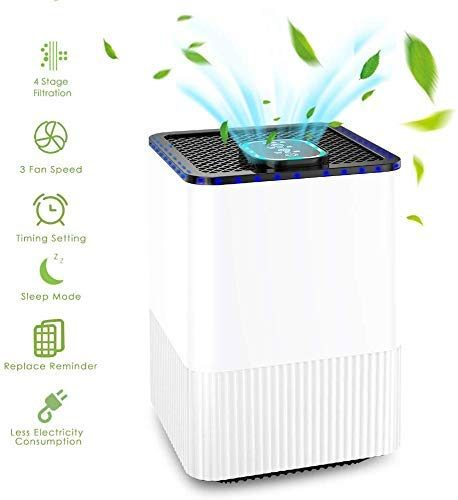 Air Purifier with 4 in 1 True HEPA Filter, Home Air Cleaner